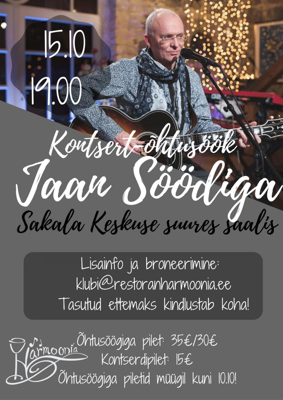 Kontsert-Õhtusöök Jaan Söödiga 15.10.2016