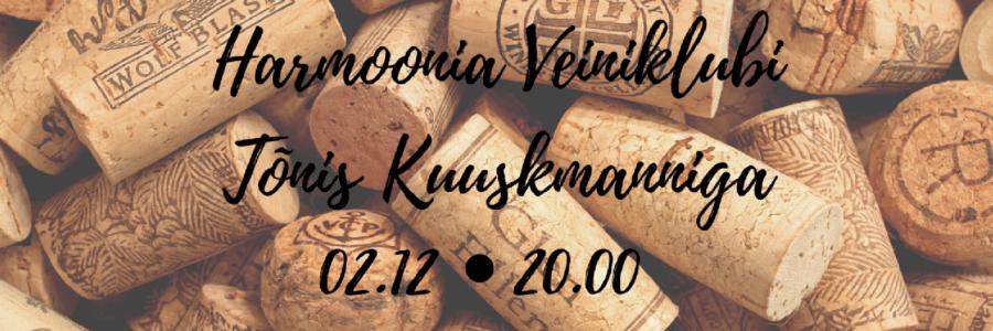 Harmoonia Veiniklubi 02.12