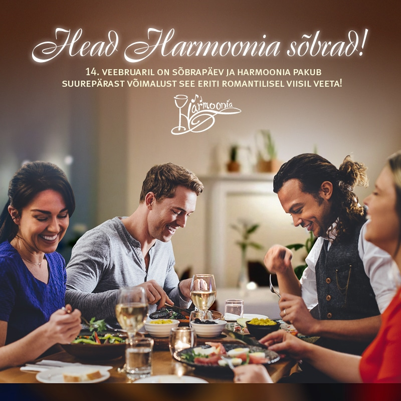 Sõbrapäeva õhtusöök Harmoonias 14.02.2016