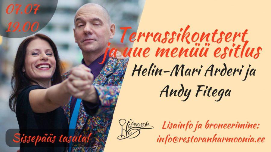 Uue menüü esitluskontsert Helin-Mari Arderi ja Andy Fitega 7.07.2017