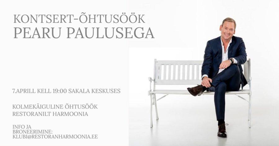 Kontsert-Õhtusöök Pearu Paulusega 17.02 ja 7.04