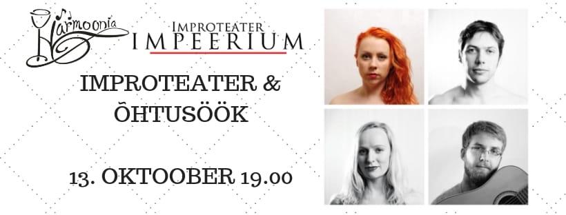Improteater – õhtusöök 13.10.2018